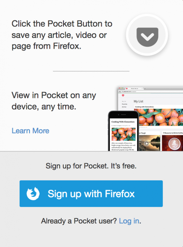 Thx but no thx @mozilla I'd rather own my bookmarks from my own domain #IndieWeb