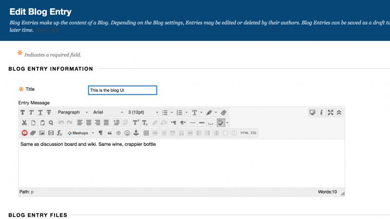 Blackboard Blogging #OpenEd19