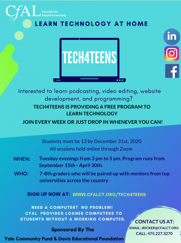 Please share wirth any middle schooler looking for something to do on Tuesdays. Get a free website. Learn web design, videography, and podcasting and meet @scsu mentors.  #nv #ctedu #literacies