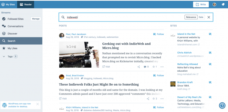 WordPress.com May Have Best Following Reader integration #IndieWeb