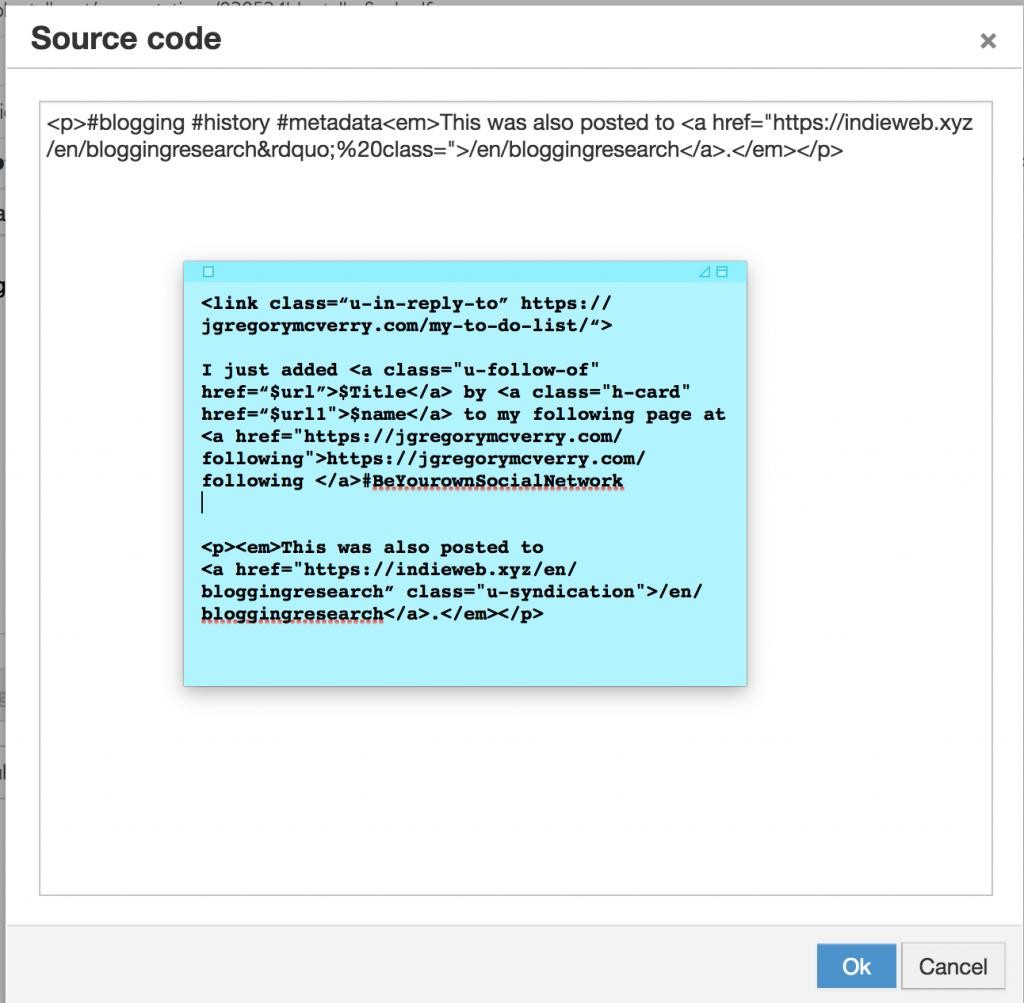 screen shot of html